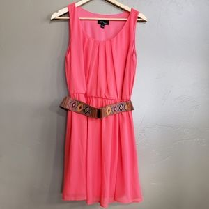 BCX Belted Coral Dress